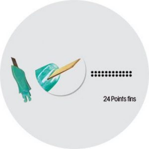 Aiguille-24-points-fins-rangee-double